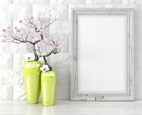 Vasen vor Spiegel